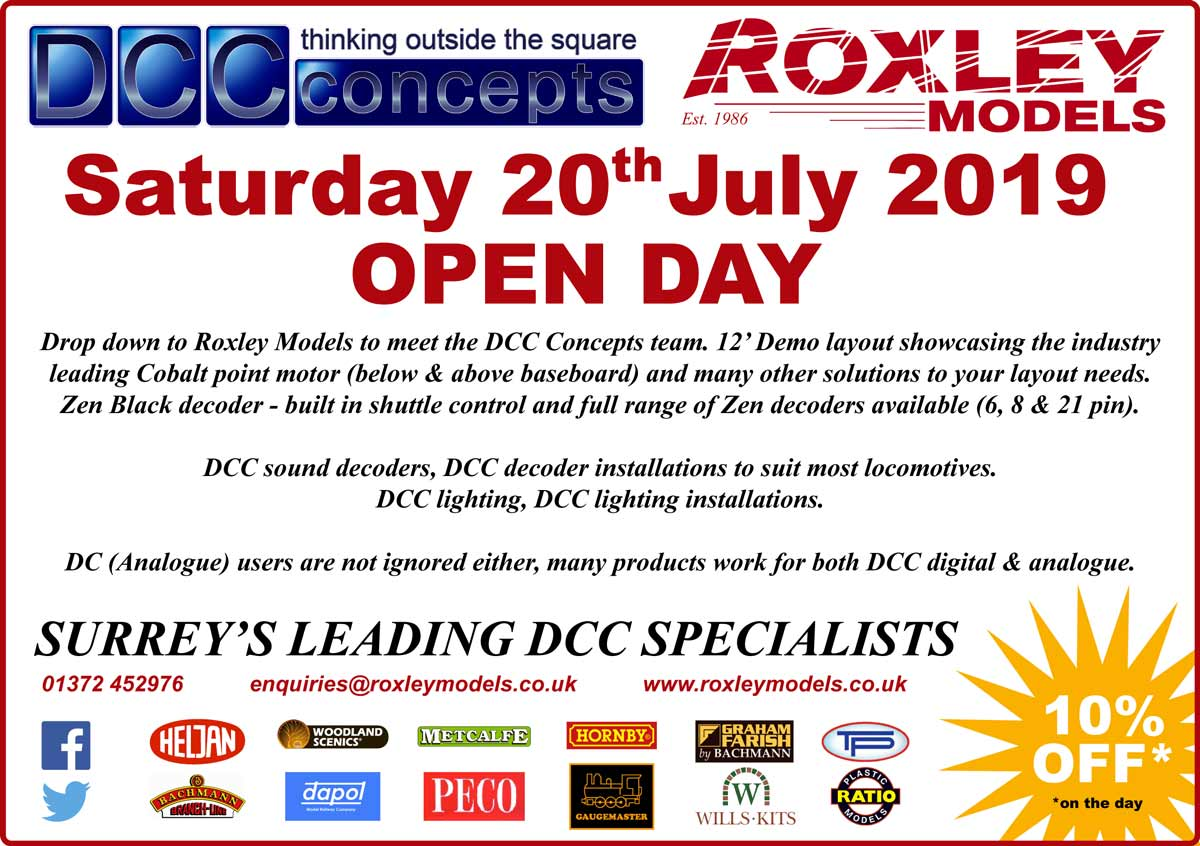 DDC Open Day at Roxley Models Saturday July 20th